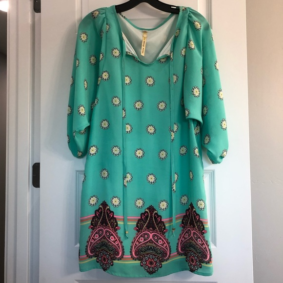Uncle Frank Dresses & Skirts - Uncle Frank Bohemian Printed Dress XS